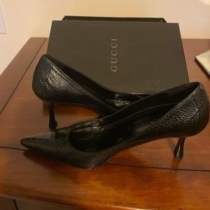 Ostrich Gucci Pumps